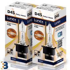 2 x D4S LUNEX XENON LÁMPARAS BOMBILLA P32d-5 Original 35W 4300K Colour Match+50%