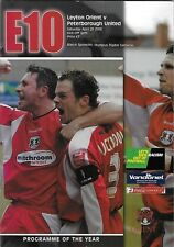 Football Programme>LEYTON ORIENT v PETERBOROUGH UNITED Apr 2006
