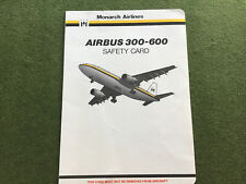 safety card monarch airbus a300 600