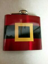 "red stainless steel 5 oz. pocket flask by Target Brands 4"" tall x 3.75"" wide"