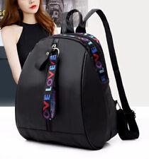 Women Travel Oxford Cloth Shoulder Bags Storage Backpack Waterproof Black