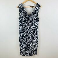Diana Ferrari Womens Sheath Dress Size 12 Exclusive Print Black White Gorgeous