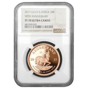Südafrika - 1 Rand 2017 - Krügerrand - NGC PF-70 Ultra Cameo - 1 Oz Gold PP
