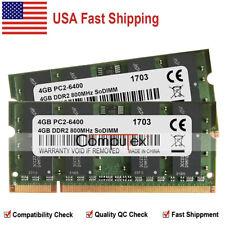 US 8GB 2x4GB PC2-6400 800Mhz DDR2  SoDimm Memory For Dell Latitude E6400 E6500