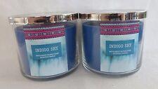 2 Indigo Sky Scented Candle Bath & Body Works 14.5 Oz