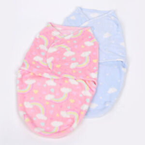baby infant swaddle baby wrap for winter  0-6 months coral fleece sleep bag