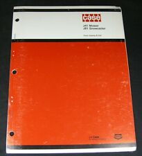 CASE J41 Rotary Mower J81 Snowcaster Parts Manual Compact Tractors Book Catalog