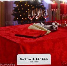 Christmas Barwil Lines Winter Joy Damask 60x84 Oblong Tablecloth NWT