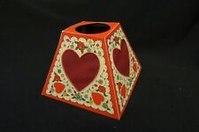 Vintage Art Deco Heart Paper Lamp Shade 1920S Hold To Light