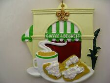 Coffee and Beignets ORNAMENT FREE Gift Bag New Orleans Holiday Christmas favor