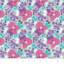 Care Bear Sparkle & Shine - Pretty Bow in Light Blue Cotton Fabric By The Yard
