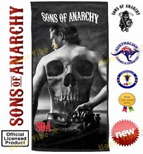 NEW SONS OF ANARCHY JAX GIANT BEACH TOWEL BLACK OFFICIAL LICENSED MAN CAVE GIFT