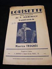 Partition Louisette F Dominicy Maurice Trognée