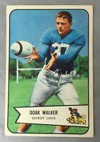 1954 BOWMAN 41 DOAK WALKER LIONS CARD FOOTBALL HOF DETROIT VG
