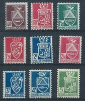 ALGERIA 1942-45 SG181-189 Coats-of-Arms Set Mint MNH