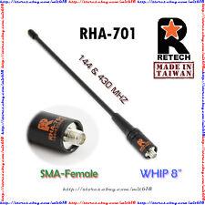 Retech whip Antenna Sma-F for Baofeng Uv-3R + plus Uv-5R Kg-Uv6D Px-888K Fd-880