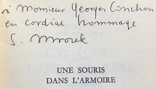 EO française 1970 ENVOI dédicace SLAWOMIR MROZEK : UNE SOURIS DANS L'ARMOIRE