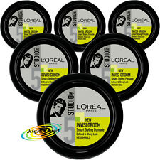 6x Loreal Studio Line Invisi Groom Smart Hair Styling Pomade Cream Medium Hold