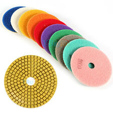 "4"" Wet/Dry Diamond Polishing Pads Grinding Discs Granite Concrete Marble Stone"