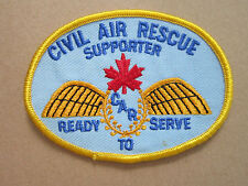 Canadian Civil Air Rescue Woven Cloth Patch Badge