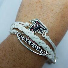 NFL Atlanta Falcons White Blue and Red Tri Braid Bracelet team spirit football