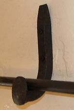 2 Primitive Rustic Curtain Rod Holders Hangers Country Antique Railroad Spikes
