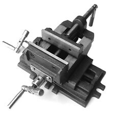 """4"""" 100mm Cross Slide Vice, 2 Way Drill Press Vice Clamp Milling Industrial Level"""