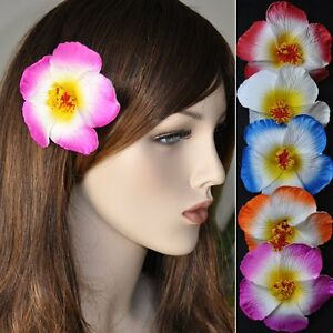 Flower Hibiscus Bloom Hair Clip 5 Colours Hawaii Decoration