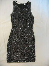 Laurence Kazar Black Silk & Silver Sequin Evening Dress - Sz 2 - Magical & Sexy!