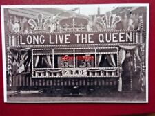 PHOTO  SHEFFIELD TRAM - (2) TRAM DECORATED ROYAL VISIT OF KING EDWARD VII & QUEE