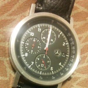Used! Mercedes Benz Watch Chronograph Black BMW Ferrari CITIZEN limited model