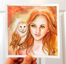 """Original Watercolour Painting """" Owl """" Inspiration Art by Patricia"""