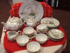 Vintage Japanese  Lithopane Kutani Ware Sunny China Tea Set.