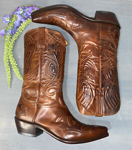 Lucchese Charlie 1 Horse Men's Leather Redwood Bomber Western Cowboy Boots 10 D