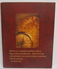 adams Journal Hard Cover We live in a wonderful World Quote 80 cream lined pages