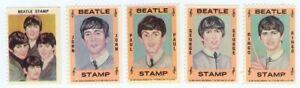 BEATLES Stamps Hallmark 1964 Set of 5