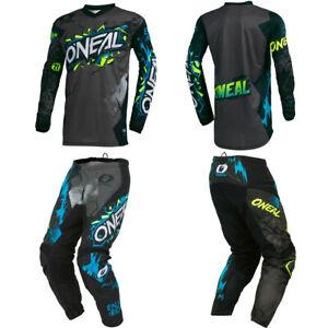 O'Neal Element Villain Kids/Youth Jersey Pants motocross dirt bike combo package