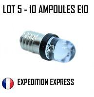 LOT 5 - 10 AMPOULES LEDS  E-10 BLANC CHAUD 12 VOLT HO 1/87 DECORS JOUEF LIMA