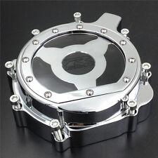 Billet Engine Stator cover see through SUZUKI 2004 GSXR600 750 1000 CHROME left