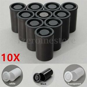 10 Empty Black White Bottle 35mm Film Cans Canisters Containers for Kodak  +(