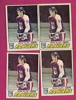 4 X 1977-78 OPC # 166 RANGERS WAYNE DILLON EX-MT CARD  (INV#4262)
