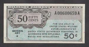 🔴 USA 50 Cents ND(1946) aUNC  PM4  MPC  RARE IN HIGH GRADE🔴