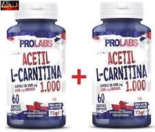 PROLABS 2 x ACETILO L-CARNITINA 1000 MG , 60 cápsulas - Quemador de grasa Oferta