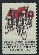 Switzerland 1924 Cyclists fund raising label for 1924 Paris Olympics unused