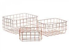 Korb 3er Set Drahtkorb Aufbewahrung Eisen Kupferfarben NEU S.Oliver X  Massivum