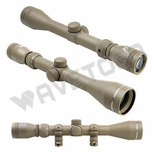 NcSTAR 3-9X40 P4 Sniper Full Size Rifle Scope Tan Tactical Lens Covers Rings