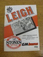 25/09/1988 Rugby League programme: Leigh V Sheffield Eagles. Etat: nous ASP