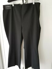 NEXT WOMENS TAILORING CROPPED KICKFLARE SIZE 16 REGULAR  BLACK TROUSERS BNWT