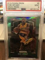2019 Panini Prizm Green Prizm #8 Kobe Bryant PSA 9 MINT - SHARP LAKERS MAMBA