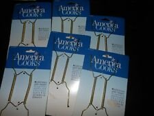 6  America Cooks Solid Brass Display Plate  or bowl Hanger 8 to 12 in.Diameter